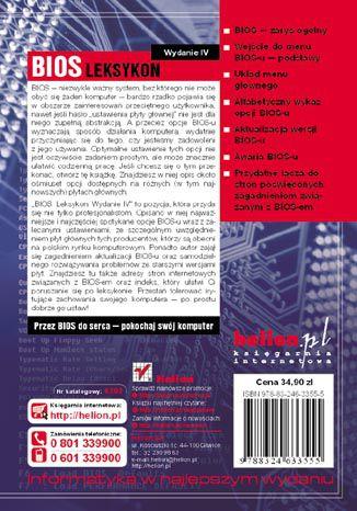 Tył okładki książki BIOS. Leksykon. Wydanie IV