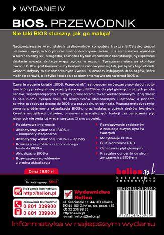 Tył okładki książki/ebooka BIOS. Przewodnik. Wydanie IV