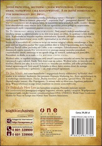 Tył okładki książki Zero ograniczeń. Sekret osiągnięcia bogactwa, zdrowia i harmonii ze światem