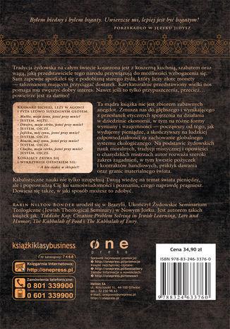 Tył okładki książki/ebooka Kabała pieniędzy. Żydowska filozofia bogacenia się