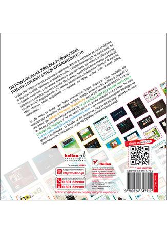 Tył okładki książki Projektowanie WWW. Księga pomysłów. #2