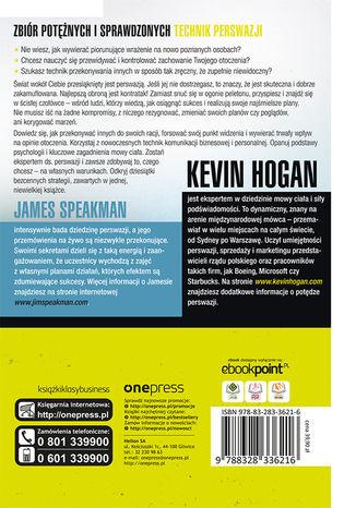 Tył okładki książki/ebooka Ukryta perswazja. Psychologiczne taktyki wywierania wpływu