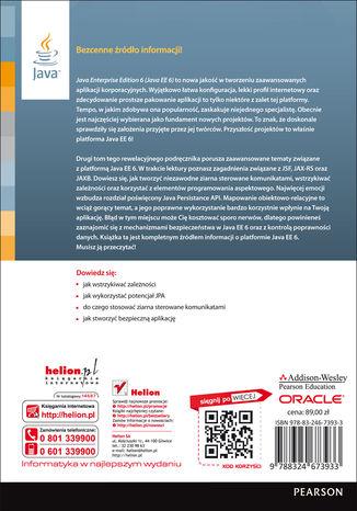 Tył okładki książki/ebooka Java EE 6. Zaawansowany przewodnik. Wydanie IV