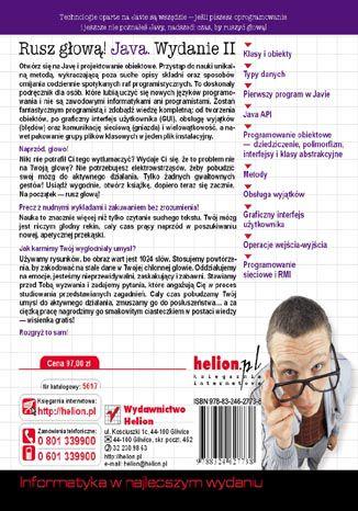 Tył okładki książki Java. Rusz głową! Wydanie II