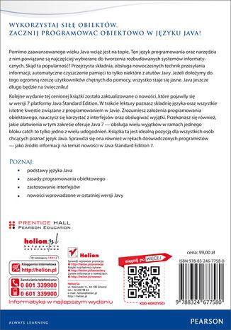 Tył okładki książki/ebooka Java. Podstawy. Wydanie IX