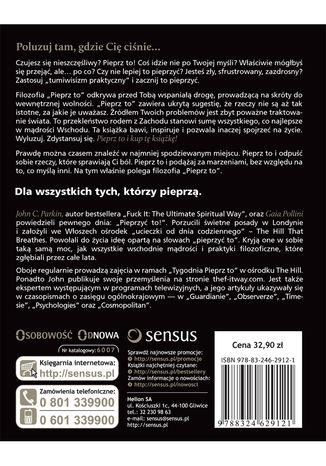 Tył okładki książki/ebooka Filozofia sukcesu, czyli f**k it