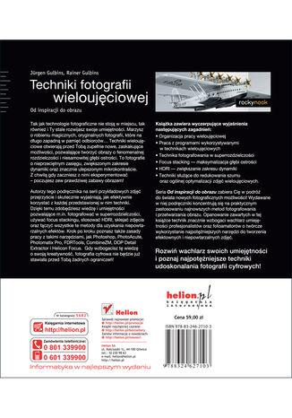 Tył okładki książki/ebooka Techniki fotografii wieloujęciowej. Od inspiracji do obrazu