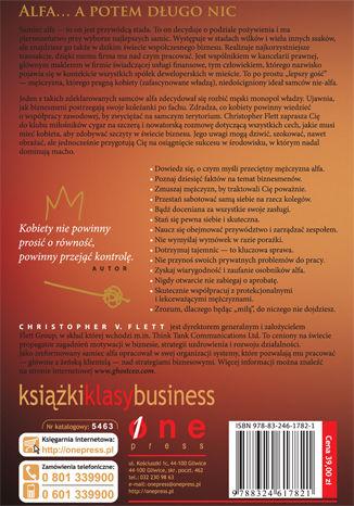 Tył okładki książki Tylko dla kobiet. Jak mężczyźni postrzegają biznes oraz kobiety w biznesie