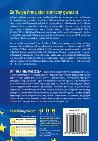 Tył okładki książki/ebooka Fundusze unijne. Szansa na rozwój małych i średnich przedsiębiorstw. Budżet na lata 2014-2020