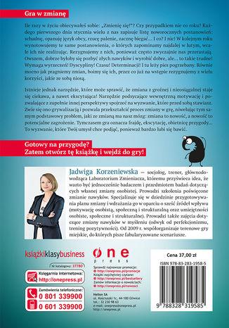 Tył okładki książki/ebooka Ograć nawyki. Jak zastosować mechanizmy gier w procesie zmiany osobistej