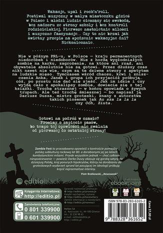 Tył okładki książki/ebooka Zombie Fest
