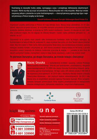 Tył okładki książki/ebooka Fundraising. Pierwszy polski praktyczny podręcznik