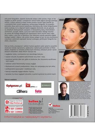 Tył okładki książki/ebooka Profesjonalne ujęcia portretowe. Techniki retuszowania zdjęć według Scotta Kelby'ego