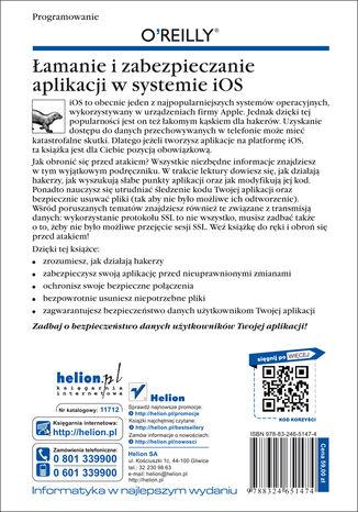Tył okładki książki/ebooka Łamanie i zabezpieczanie aplikacji w systemie iOS