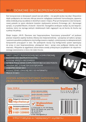 Tył okładki książki/ebooka Wi-Fi. Domowe sieci bezprzewodowe. Ilustrowany przewodnik