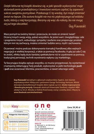 Tył okładki książki/ebooka Oczarowanie. Sztuka zmieniania serc, umysłów i czynów