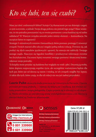Tył okładki książki/ebooka Budujące rozmowy. Szczęśliwy związek bez konfliktów