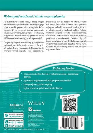 Tył okładki książki/ebooka Analiza i prezentacja danych w Microsoft Excel. Vademecum Walkenbacha. Wydanie II