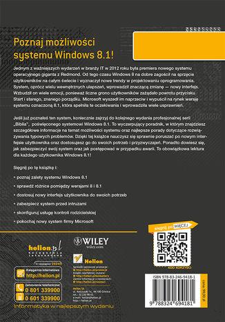 Tył okładki książki Windows 8.1 PL. Biblia