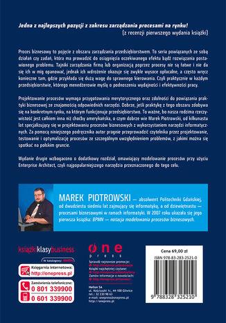 Tył okładki książki Procesy biznesowe w praktyce. Projektowanie, testowanie i optymalizacja. Wydanie II