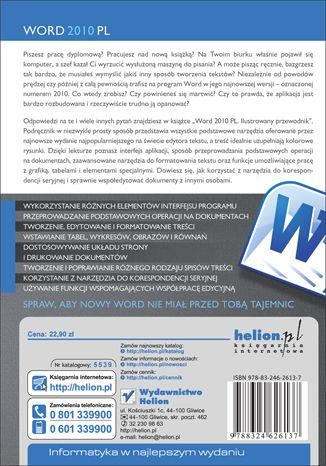 Tył okładki książki/ebooka Word 2010 PL. Ilustrowany przewodnik