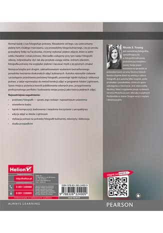 Tył okładki książki Fotografia kulinarna. Od zdjęcia do arcydzieła. Wydanie II