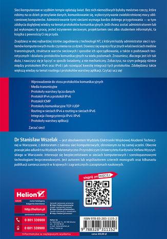 Tył okładki książki Administrowanie sieciowymi protokołami komunikacyjnymi