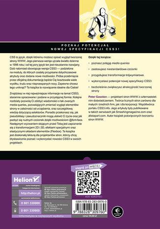 Tył okładki książki CSS3. Podręcznik nowoczesnego webdevelopera