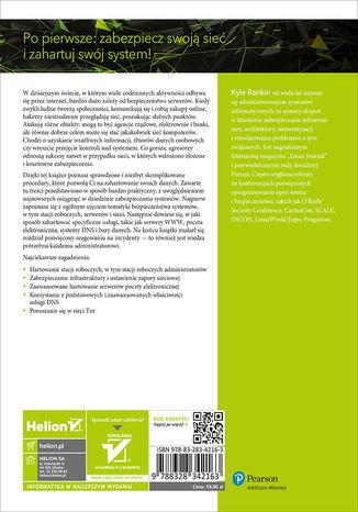 Tył okładki książki/ebooka Hartowanie Linuksa we wrogich środowiskach sieciowych. Ochrona serwera od TLS po Tor