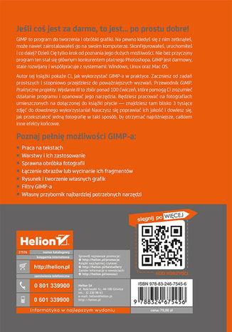 Tył okładki książki GIMP. Praktyczne projekty. Wydanie III