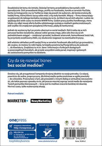 Tył okładki książki/ebooka Twoja firma w social mediach. Podręcznik marketingu internetowego dla małych i średnich przedsiębiorstw. Wydanie II