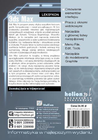 Tył okładki książki/ebooka 3ds Max. Leksykon