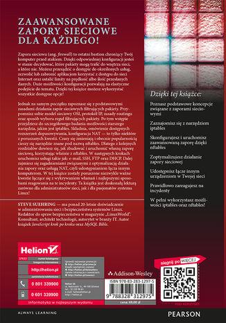 Tył okładki książki Zapory sieciowe w systemie Linux. Kompendium wiedzy o nftables. Wydanie IV