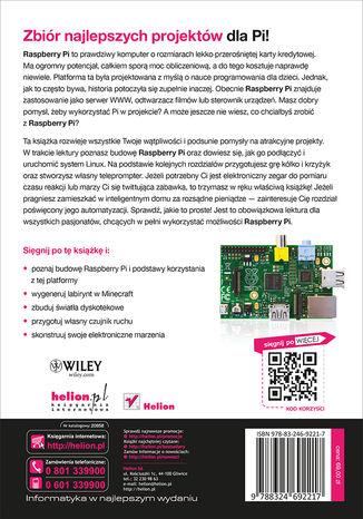 Tył okładki książki/ebooka Raspberry Pi. Najlepsze projekty