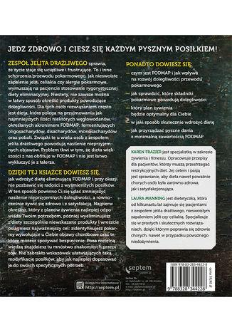 Tył okładki książki/ebooka Dieta FODMAP. Książka kucharska, wskazówki dietetyka i plany żywieniowe dla osób z zespołem jelita drażliwego