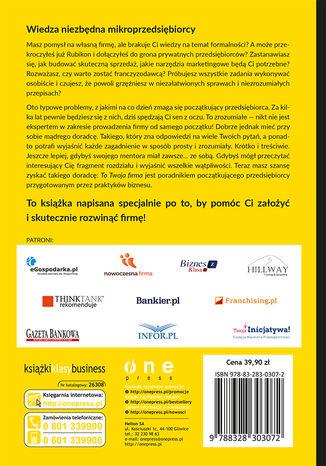 Tył okładki książki TO TWOJA FIRMA. 12 KROKÓW DO SUKCESU