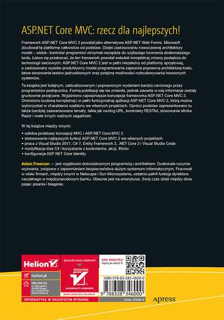 Tył okładki książki/ebooka ASP.NET Core MVC 2. Zaawansowane programowanie. Wydanie VII