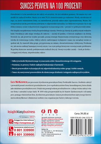 Tył okładki książki/ebooka Algorytm sukcesu. Wprowadź swoją firmę na ścieżkę rozwoju