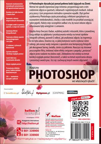 Tył okładki książki/ebooka Zaklęcia Photoshopa. Edycja zdjęć. Wydanie II