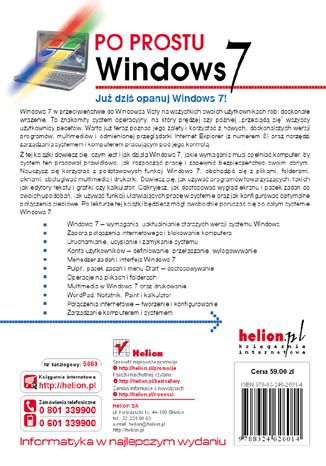 Tył okładki książki Po prostu Windows 7
