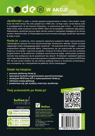 Tył okładki książki/ebooka Node.js w akcji