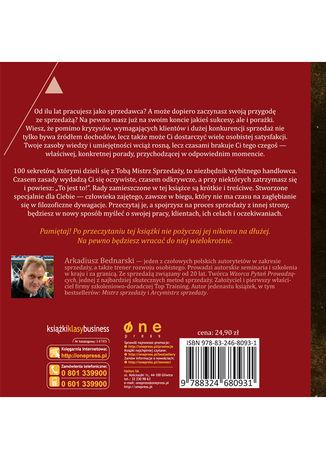 Tył okładki książki/ebooka 100 sekretów Mistrza Sprzedaży