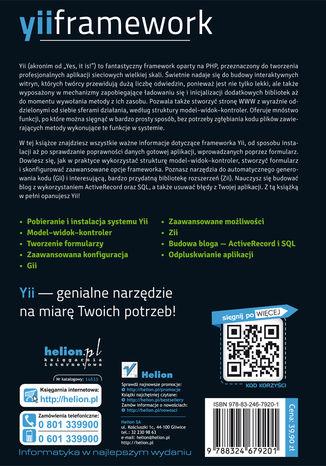 Tył okładki książki/ebooka Yii Framework