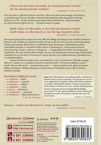 Tył okładki książki/ebooka Tao Te Ching
