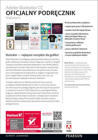 Tył okładki książki/ebooka Adobe Illustrator CC. Oficjalny podręcznik. Wydanie II