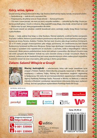 Tył okładki książki/ebooka Klątwa gruzińskiego tortu