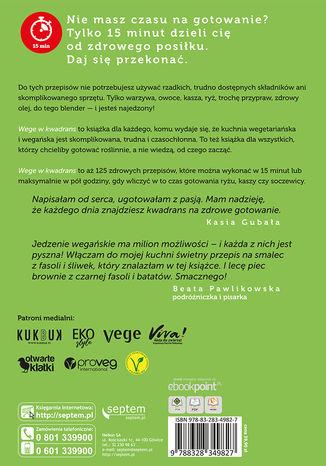 Tył okładki książki/ebooka Wege w kwadrans. 125 szybkich przepisów kuchni roślinnej