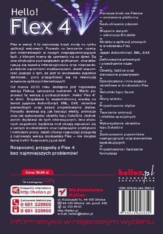 Tył okładki książki/ebooka Hello! Flex 4