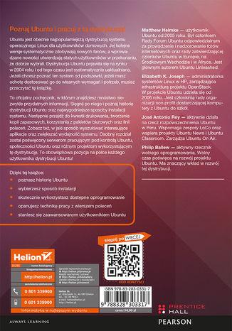 Tył okładki książki/ebooka Ubuntu. Oficjalny podręcznik. Wydanie VIII
