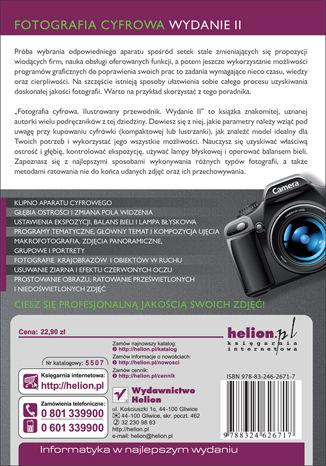 Tył okładki książki Fotografia cyfrowa. Ilustrowany przewodnik. Wydanie II